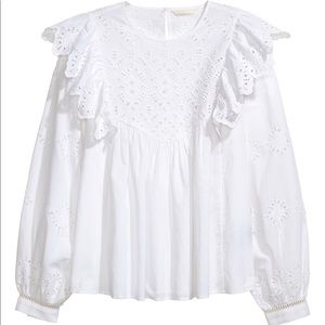 H&M Eyelet Embroidery top